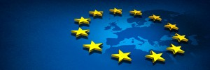 European Union Stars and Map
